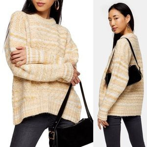 New Topshop Tuck Stitch Oversized Sweater